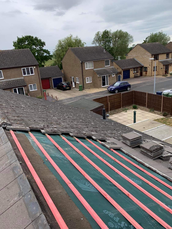 Re Roof New Felt & Battons
